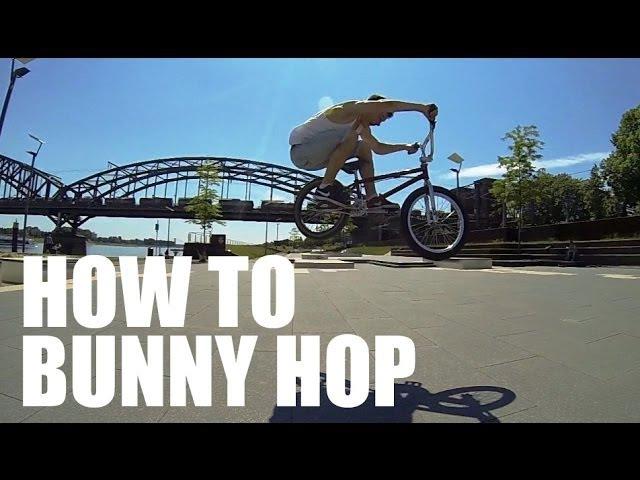 How to Bunny Hop on a BMX Bike - Как сделать Банни-хоп [Дима Гордей] | Школа BMX Online