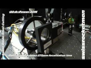 Мощный лазер 60W Вт режет сталь!!!