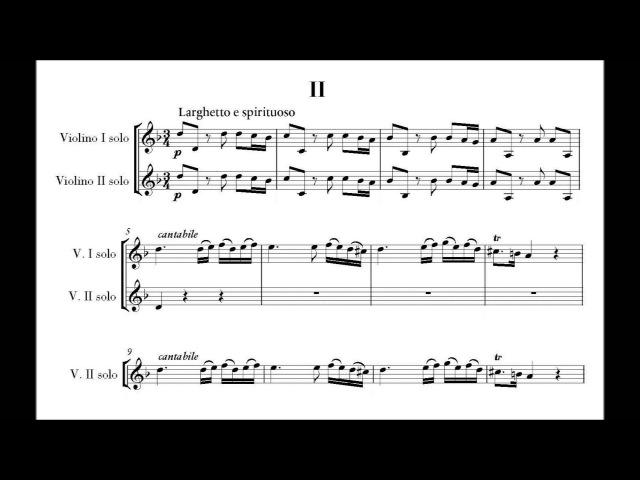 Vivaldi Antonio L 1678 1741 violin concerto for 2 violins in A minor opus 3 no 8 RV 522