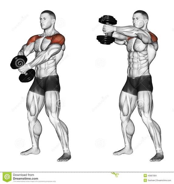 Упражнение с одной гантелей картинки