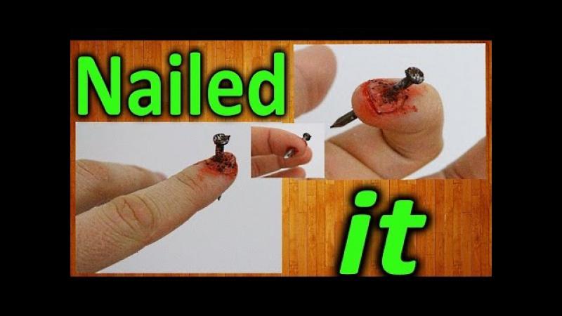 Как сделать пробитый ноготь на хэллоуин / How to make a broken through nail » FreeWka - Смотреть онлайн в хорошем качестве