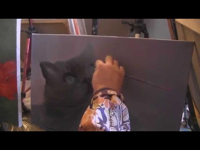 Видеоурок Сахарова Как научиться рисовать кота живопись для начинающих уроки рисования