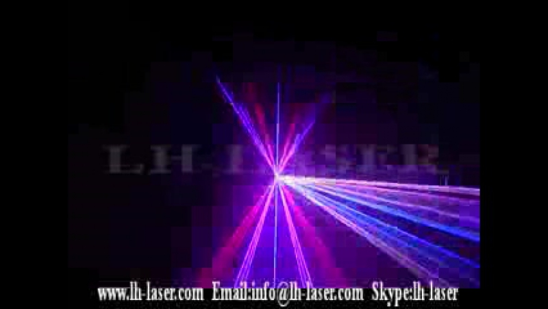LH RGB245 TTL Modulation 2000MW RGB Laser With LCD Display and SD Card