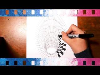 45 Как нарисовать ОЧЕНЬ реалистичную дыру на бумаге