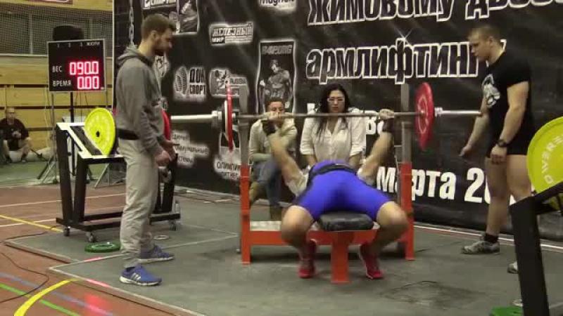 Павел Силушин 90 кг х 43 повторения