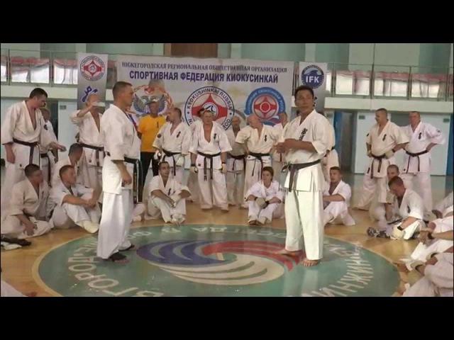 Уроки каратэ Хадзимэ Казуми рациональная защита от ударов руками
