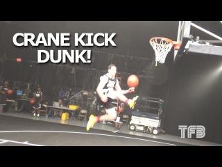 "Tyler Inman's Debuts the ""CRANE KICK DUNK"" at the Dunk League!"