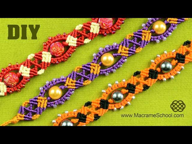Macrame Carnival Bracelet Tutorial