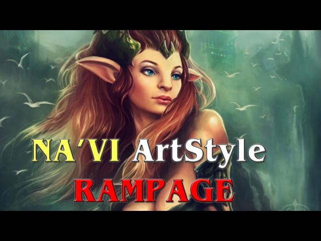 NaVi ArtStyle RAMPAGE GG | NaVi vs Team Secret Dota Pit