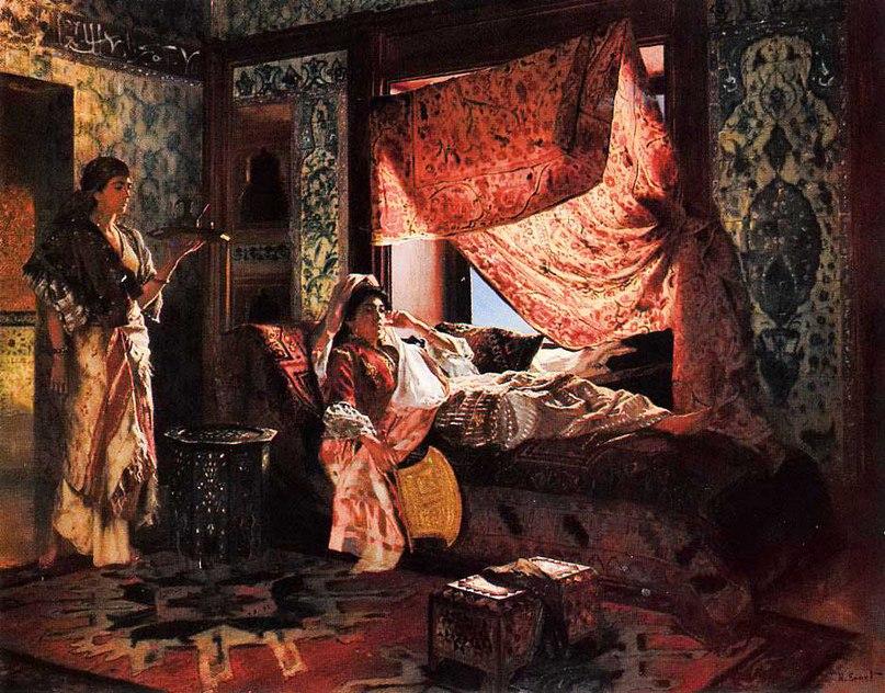 "Rudolph Ernst (1854-1932), ""Мавританский интерьер"" (""A moorish Interior"")"