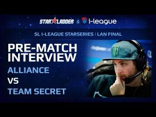 SL i-League 13 Pre-Match Interview: Alliance vs Secret (+SUB)