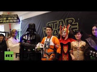 Китай: Сила Пробуждает в Пекине сотни участие Звездные Войны премьера.