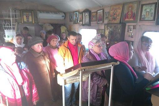 Поздравление старосте в храме