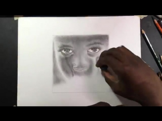 DRAWING A REALISTIC FACE OF A CHILD CRYING