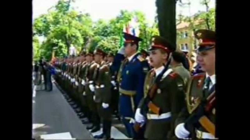 Wunsdorf Вюнсдорф военный парад в честь вывода войск 1994