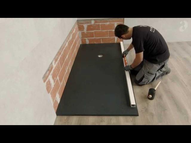 Installation posée,receveur de douche sur mesure panneaux FR