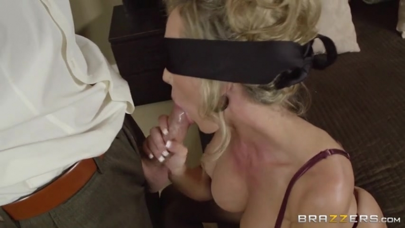 Brandi Love was blindfolded and throatfucked while she was trying to get ready for
