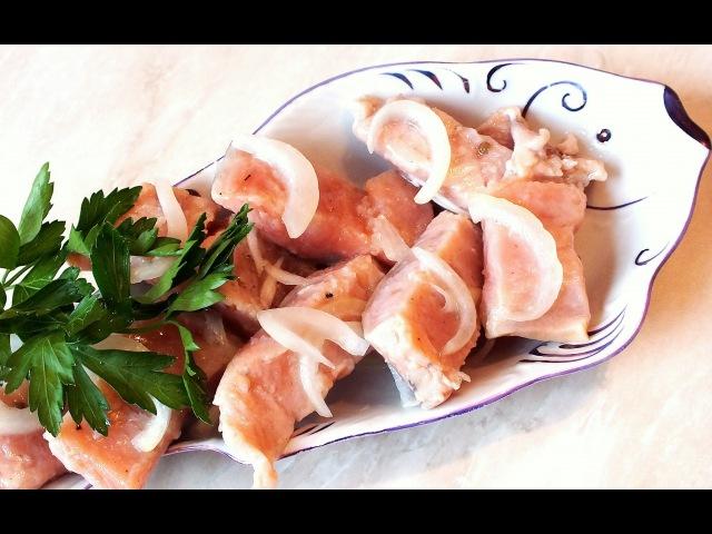 Как мариновать вкусно горбушу вкусный рецепт fish recipes
