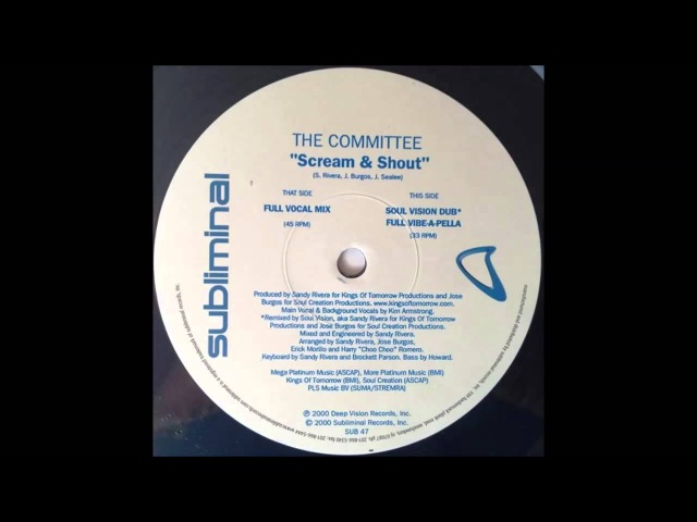 The Committe Scream Shout Full Vocal Mix 2000