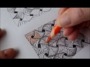 How to draw tanglepattern Flip Flap