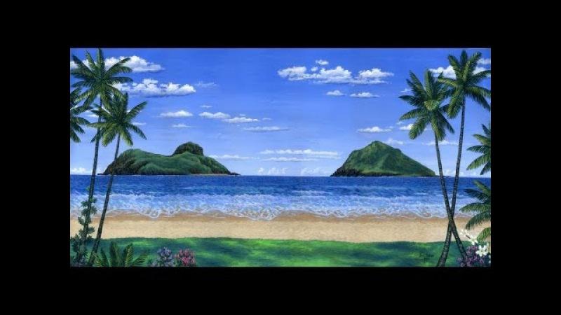 Kuidas maalida troopiline rand ja saared kasutades akrüül lõuendil