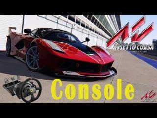 Assetto Corsa Console - Gameplay Playstation 4 [Ps4] - Ferrari FXXK - Barcellona [Thrustmaster T300]