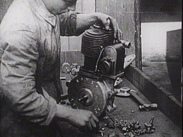 Early Motorcycle Manufacture The Rover Imperial *silent movie