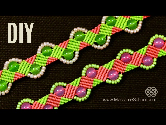 Beaded Zig Zag Wave Bracelet Tutorial by Macrame School