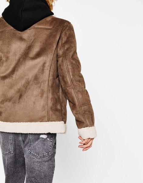 Байкерская куртка из двустороннего материала