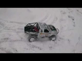 Axial scx10 honcho stock snow run