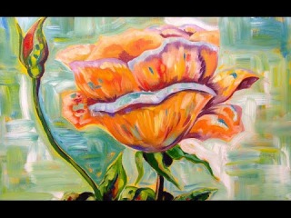 Acrylic painting Tutorial   Rose and Bud   Floral art lesson Art Sherpa
