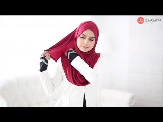 Simple Hijab Tutorial 1 - Dhiya Instant Shawl by Munyra Apparel