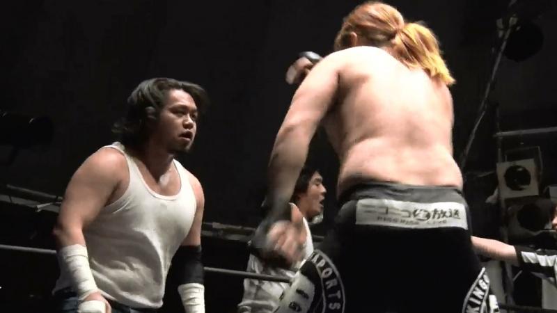Ken Ohka Masayuki Mitomi Shuichiro Katsumura vs KENSO Osamu Namiguchi Shibata DDT Ganbare Pro Wrestling Get Down 2017