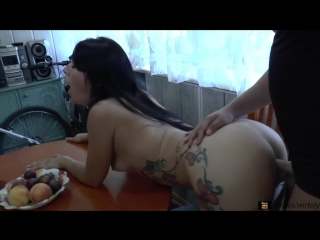 Teen gets passionate orgasms straight on the balcony super creampie