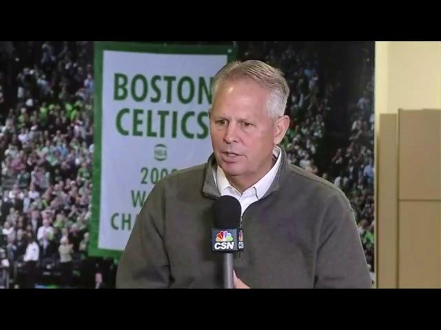 Danny Ainge Interview 2017 Iriving Hayward Press Conference Boston Celtics