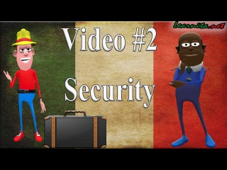 Italian conversation at the airport -  Lesson #2- Security