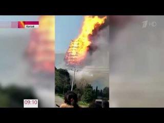 В Китае сгорела самая высокая в Азии пагода