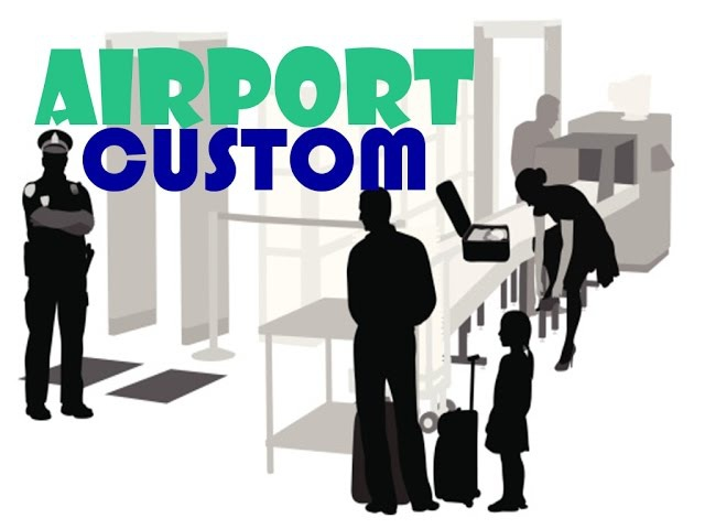 Important questions at the airport Customs control English conversation