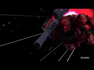 """Char Aznable the """"Red Comet"""" and his MS-06S Zaku II, all limiters deactivated."""