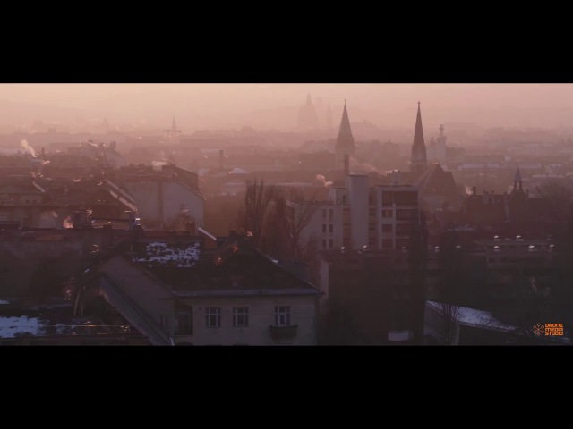 Budapest szmog   Pretty smoggy sunset in the Hungarian capital - drone video