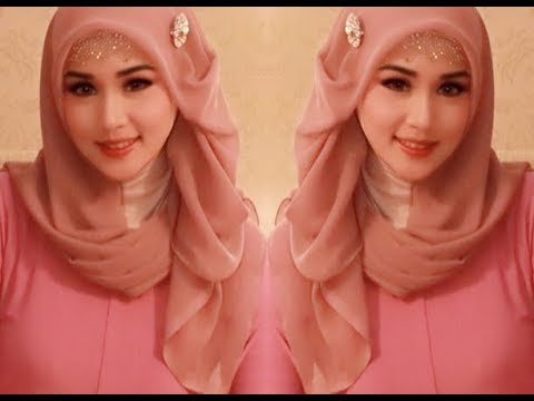 Hijab Segi Empat Pesta Simple,glamor, Mewah, Elegan,dan Trend Kekinian Hijab Wisuda,