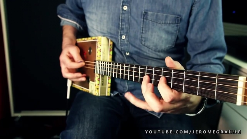 GARY MOORE STILL GOT THE BLUES COVER CIGAR BOX GUITAR BY JEROME GRAILLE