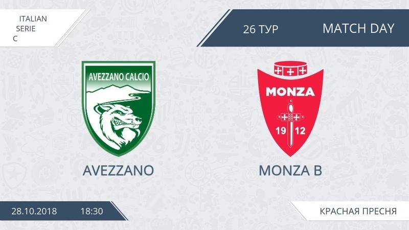 AFL18. Italy. Serie C. Day 26. Avezzano - Monza B