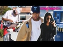 Tyga Kylie Jenner Get Gas, Go To In-N-Out Burger Drive Past Kendall On The Highway 11.6.15