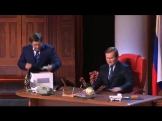 Уральские пельмени  Путин и Медведев меняются местами (хорошее настроение, юмор, выборы, президент, коррупция, политика смешное)