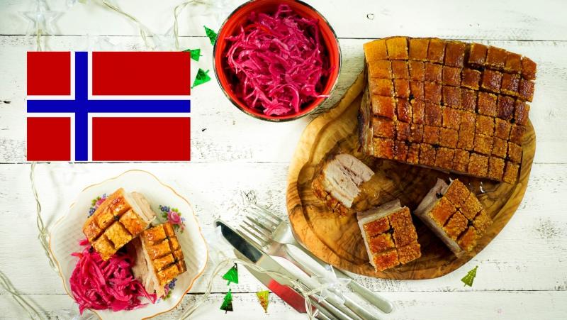 Норвежское жаркое из свинины Риббе