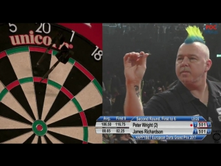 Peter Wright vs James Richardson (European Darts Grand Prix 2017 / Round 2)