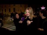 Natalia Vodianova - interview after fashion show John Galliano