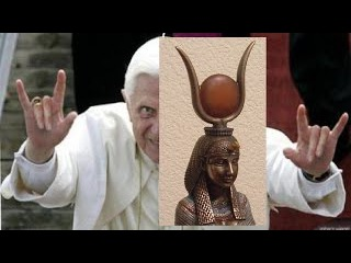 Le Vatican l'adulation et le culte d'ISIS (Noir: Horus le CHRT/Blanc:Jésus le Christ)