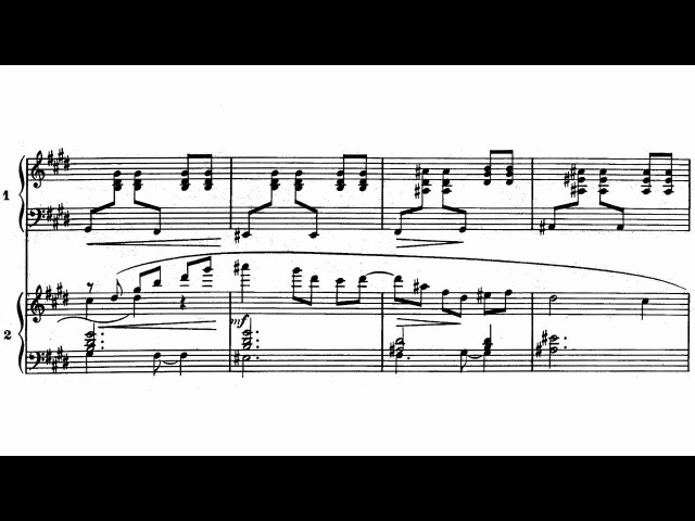Ravel - Piano concerto in G, II. Adagio assai (with sheet music)